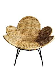 Rattan Accent Chair Adorable Rattan Accent Chair Vintage Woven Rattan Flower Chair