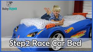 Blue Car Bed Wheels Step2 Toddler To Twin Race Car Bed Review Youtube