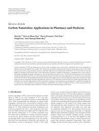 carbon nanotubes applications in pharmacy and medicine