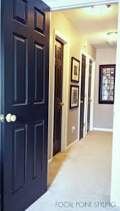 Interior Doors For Small Spaces Focal Point Styling Painting Interior Doors Black Updating