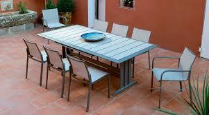 tavolo da giardino prezzi tavolo moderno in metallo rettangolare da giardino hegoa