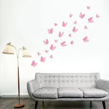 wall stickers uk wall art stickers kitchen wall stickers ws1010x2 com ws1010 walplus 3d butterflies pink x 24pcs