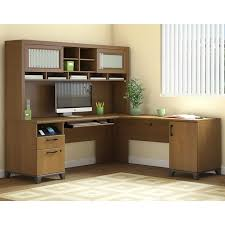 overstock l shaped desk achieve l shaped desk with hutch free shipping today overstock