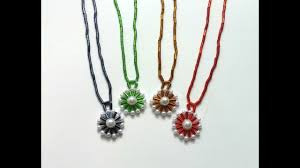 beaded necklace with pendant images How to make a necklace with a pendant in less than 10 minutes jpg