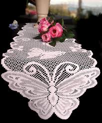 ivory lace table runner ivory lace butterfly 8 foot pattern table runners are the perfect