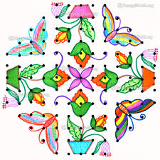butterfly kolam designs gallery