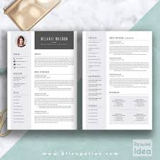 Creative Resume Word Templates Free Creative Resume Template Modern Cv Word Cover Letter Curriculum