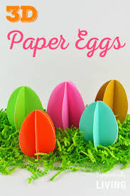paper easter eggs diy 3d paper eggs simplistically living