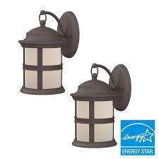 Hampton Bay Outdoor Light Fixtures by Hampton Bay 6 Watt Bronze Outdoor Integrated Led Wall Mount