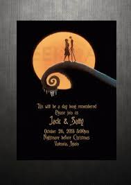nightmare before christmas wedding invitations nightmare before christmas themed wedding invitation rsvp card