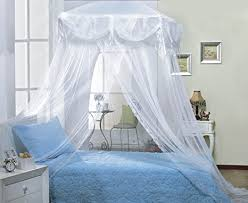 White Princess Bed Frame White Four Corner Square Princess Bed Canopy By Sid