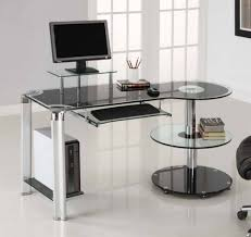 Home Office Glass Desks Office Desk Small Glass Desks For Home Computer Desk Cheap