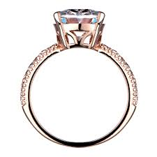 5 engagement ring oval cut 5 carat goldtone cz engagement ring