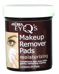 amazon com andrea eye q u0027s moisturizing eye makeup remover pads