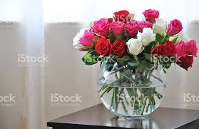 Vases Of Roses Flower Arrangement Pictures Images And Stock Photos Istock