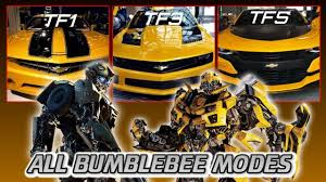 all bumblebee live action camaro vehicle modes 2007 2017