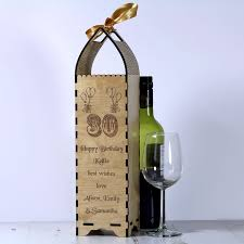 wine bottle gift box 30th birthday bottle gift box engrave a gift
