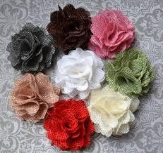 flower for hair burlap flower hair clip
