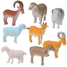 Favor Toys by 8 Pcs Plastic Sheep Goat Animals Farm Yard Model Figurine
