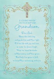 blue cross baptism card for grandson greeting cards hallmark