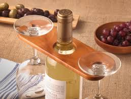 wine glass holder on a bottle nh bowl and board new hampshire