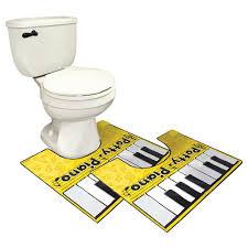 Toilet Mat Amazon Com The Potty Piano Musical Keyboard Toilet Mat Set Of 2