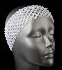 stretch headbands white crochet stretch headband hair accessories basic craft