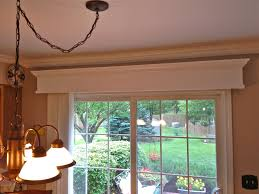 Patio Door Valance Wooden Valance With Vertical Blinds For Patio Door Home Decor