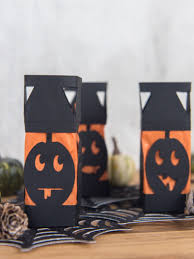 diy mini paper pumpkin lanterns