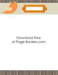 writing paper borders free printable bird border customize online then download writing paper