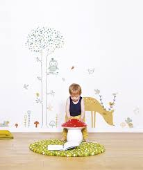 stickers garcon chambre sticker mural foret arbre cerf garcon chambre enfant bebe