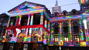 Christmas Projector Light Show by Melbourne Town Hall Christmas Lighting Show 2012 Youtube
