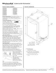Dishwasher Size Opening Download Free Pdf For Kitchenaid Kuds35fx Dishwasher Manual
