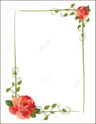 vintage frame with roses and creeping plant royalty free cliparts