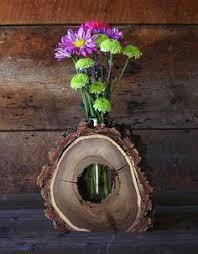 floral delights decorative mango wood picture photo home rustic hollow log vase wood home décor accent centerpiece aroma