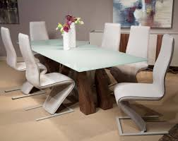 aico furniture trance rapture glass top dining set by michael