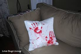 halloween pillows love bug living bloody halloween throw pillow