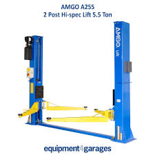 peak amgo 2 post baseplate lift ramp 5 5 ton e4g a255