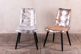 Silver Dining Chairs Silver Dining Chairs Metallic Fabric Chair Peppermill Interiors