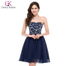 aliexpress com buy short prom dress grace karin navy blue red