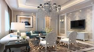 stencil feature wall monochrome living china interior design