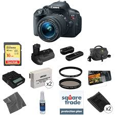 canon eos rebel t5i dslr camera with 18 55mm lens deluxe kit b u0026h
