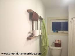 Ladder Shelf For Bathroom Upcycled Repurposed Ladder Bathroom Shelf Diy Hometalk
