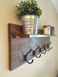 entry shelf coat rack with floating shelf wall mounted coat rack rustic