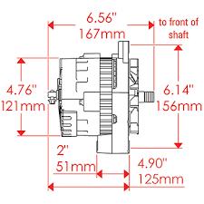 powermaster gm style race alternator 100 amp cs121 case no