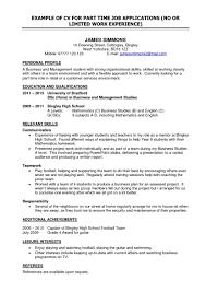 teenage job resume examples resume example teenager examples of