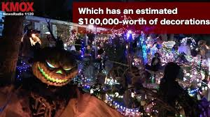 st charles home displays 100 000 worth of halloween decorations