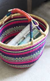 our eclectic living room home accessories coloured wicker basket home decor the elgin avenue blog