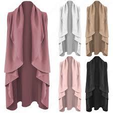 new la s long waterfall jacket womens sleeveless coat waistcoat