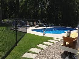 backyard getaway pool and walkway exposed aggregate steps and